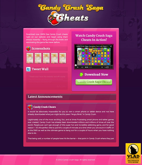 Candy Crush Saga - Landing Page 1