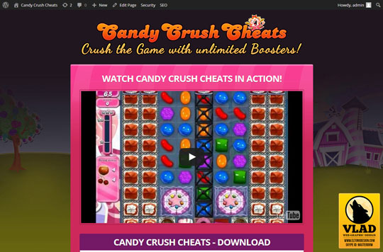 Candy Crush Saga - Landing Page 2
