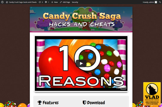 Candy Crush Saga - Landing Page 3